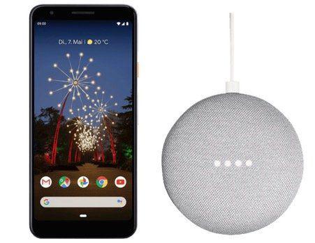 GOOGLE Pixel 3a 64GB + Home Mini Smart Speaker für 366€ (statt 433€)