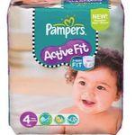 168er Pack Pampers Active Fit Windeln in Gr. 4 oder 140er Pack Gr. 4+ für je 30,24€ (statt 40€)