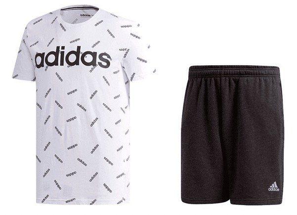 adidas Freizeit Outfit 2 teilig (T Shirt und Sport Short) für 32,95€ (statt 42€)