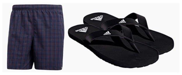adidas Badeset 2 teilig aus Badeshorts und Badeschuhen für 35,99€ (statt 45€)