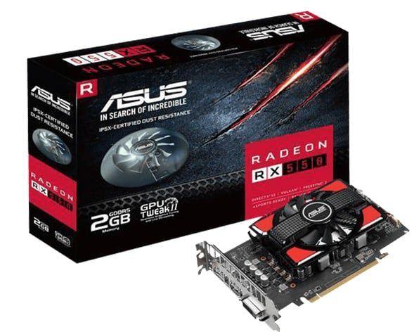 ASUS Radeon RX550 Grafikkkarte mit 2GB für 87€ (statt 127€)