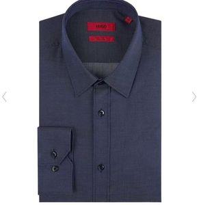 Hugo Elisha01 Extra Slim Fit Business Hemd mit Webmuster für 47,99€(statt 81€)