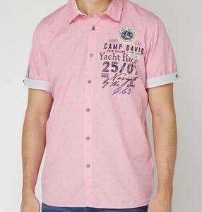 Camp David Modern Fit Freizeithemd in Rosa für 39,99€ (statt 50€)   nur M, XL, XXL