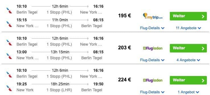 New York Flüge aus Deutschland (Hin & Zurück) inkl. Handgepäck ab 195€ p.P.