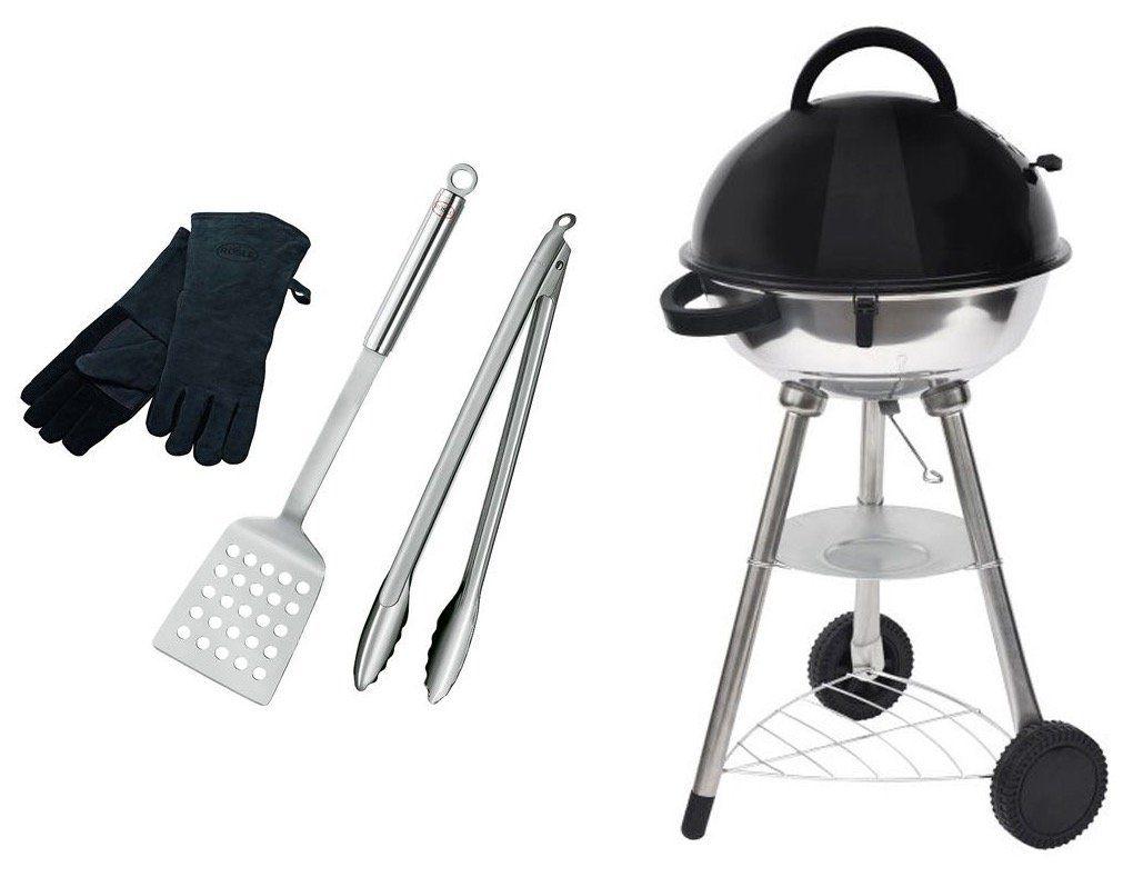 Jamie Oliver Holzkohlegrill Tall Boy mit Temperatur Anzeige + Rösle Grillwerkzeug für 90,24€ (statt 123€)