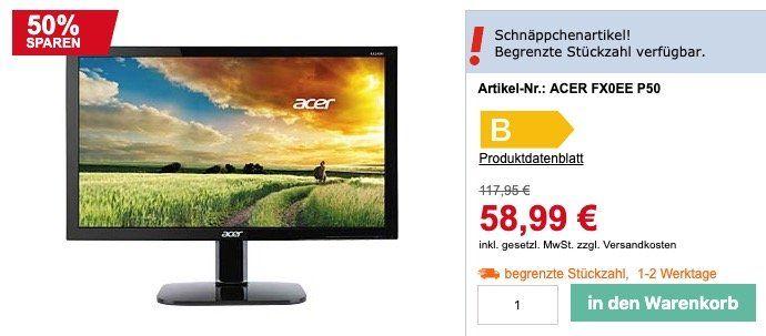 Ausverkauft! Acer FX0EE P50   24 Zoll Full HD Monitor ab 58,99€