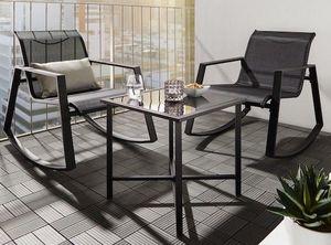 Balkon Set mit Tisch und Stühlen inkl. Schaukelfunktion für 75,25€