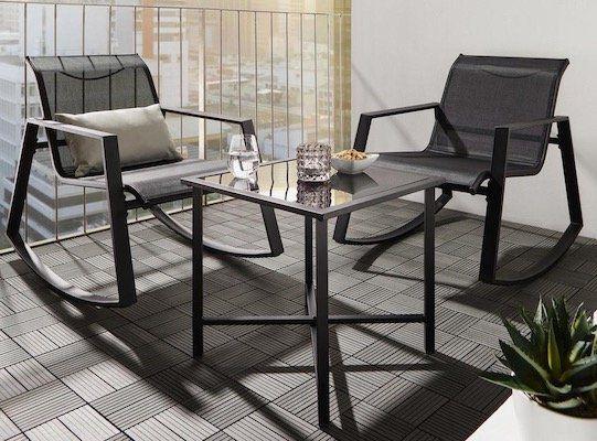 Balkon Set mit Tisch und Stühlen inkl. Schaukelfunktion für 64,35€ (statt 99€)