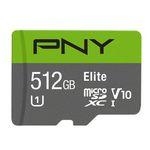 PNY Elite microSDXC Speicherkarte mit 512GB für 75,90€ (statt 111€)