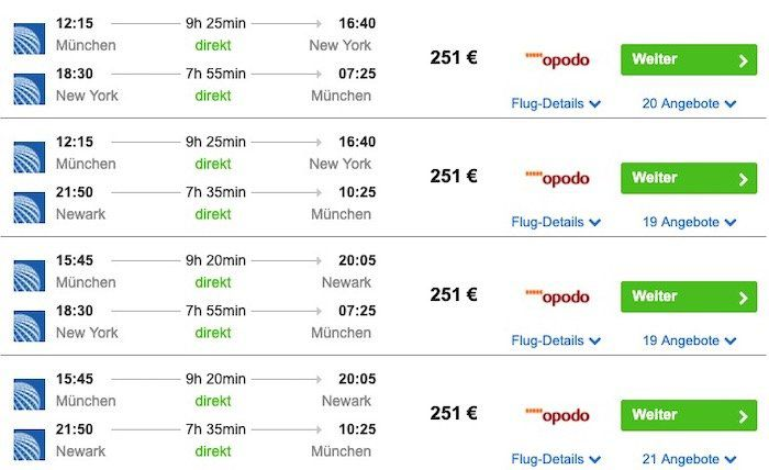 New York Flüge aus Deutschland (Hin & Zurück) inkl. Handgepäck ab 251€ p.P.