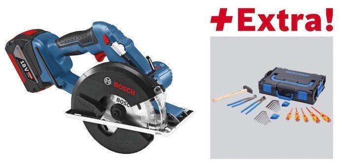 Bosch GKM 18 V LI Akku Metallkreissäge mit 2 x 5 Ah in L Boxx + 26 teiliges Gedore Werkzeug Set in L Boxx für 304,99€ (statt 353€)