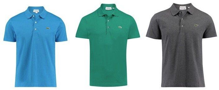 3er Pack Lacoste Waffel Pique Poloshirts in Regular Fit für 125€ (statt 155€)