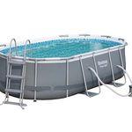 Bestway Oval Frame Stahlrahmen Pool Set 424 x 250cm für 299,99€ (statt 360€) – nur bei Abholung im OBI
