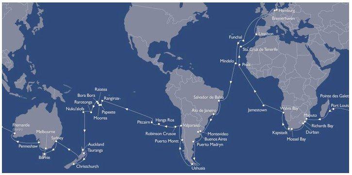Kreuzfahrt Weltreise 123 Tage auf der MS Astor   Europa, Südamerika, Ozeanien, Afrika