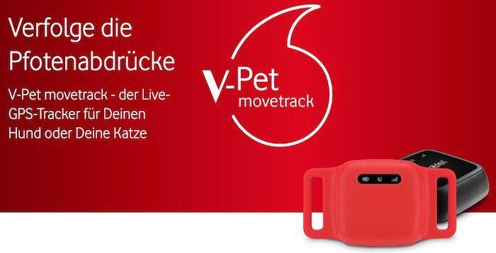 V Pet Movetrack Echtzeit GPS Tracker für 79€ + 50€ Cashback inkl. V Sim für 1,99€mtl.