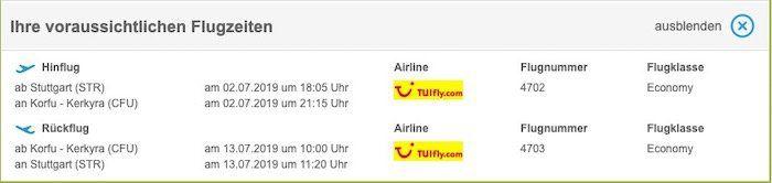 Vorbei! Griechenland: Hin  und Rückflug von Stuttgart nach Korfu für nur 27€ zu zweit
