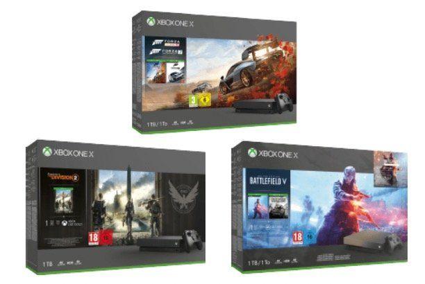 Xbox One X 1TB Bundles für je 357€   z.B. mit The Devision 2 (statt 384€)