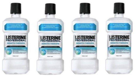 4er Pack Listerine Professional Sensitiv Therapie Mündspülung (je 500ml) für 14,89€