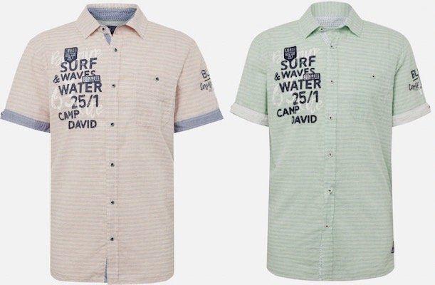 Camp David Herren Hemd in Orange oder Grün für je 29,67€ (statt 40€)   M, L, XXL