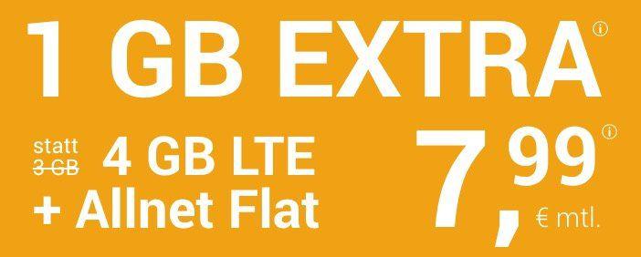 winSIM o2 Allnet Flat mit 4GB LTE + 10€ Wechselbonus für 7,99€ mtl.