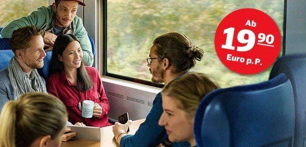 Deutsche Bahn: 4 flexible Fahrten durch ganz Deutschland für junge Leute ab 19,90€ je Fahrt