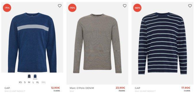 T Shirt Sale bei About You mit bis 71% Rabatt + 30% Extra Rabatt   z.B. Bruno Banani Polo für 23€