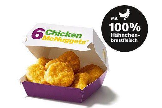 Chicken McNuggets 6er mit Sauce für 1,50€ (statt 4€)   oder 22 Stück für 4,99€