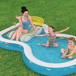 """Bestway 54168 Family Pool """"Wellness"""" mit integriertem Getränkehalter für 32,94€ (statt 42€)"""
