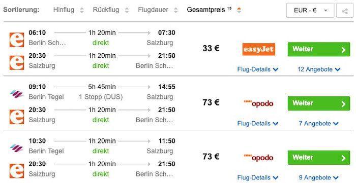 Salzburg: Hin  und Rückflug von Berlin im September ab 33€