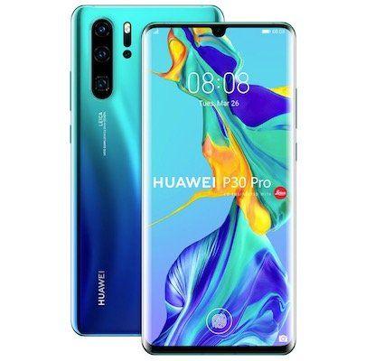 Huawei P30 Pro Smartphone in Aurora mit 128GB + Dual SIM für 614,55€ (statt 724€) + 72,30€in Superpunkten