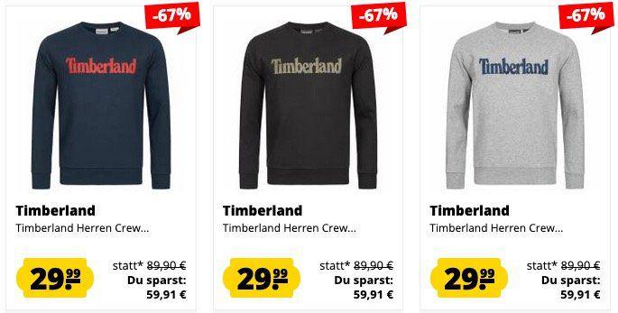 Timberland Sale bei SportSpar z.B. Timberland Sweatshirt aus