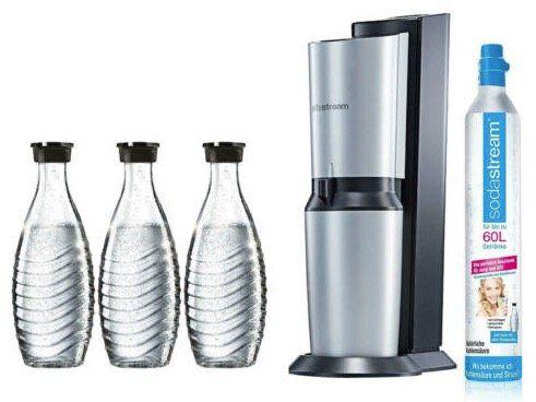 Vorbei   SodaStream Crystal Wassersprudler Set mit 3 Glaskaraffen für 92,99€ (statt 117€)
