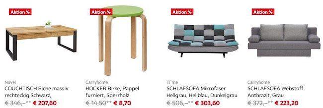 XXXLutz: 40% Rabatt auf viele Möbel oder 30% Extra Rabatt bei Lagerräumung + ggf. 10€ Gutschein