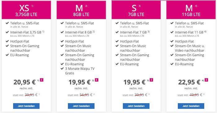 Telekom Magenta Mobil M von mobilcom mit 8GB LTE für eff. 19,95€