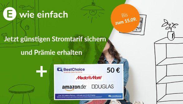 e wie einfach MeinÖko Stromtarife inkl. 50€ Gutscheinprämie   nur 12 Monate Laufzeit