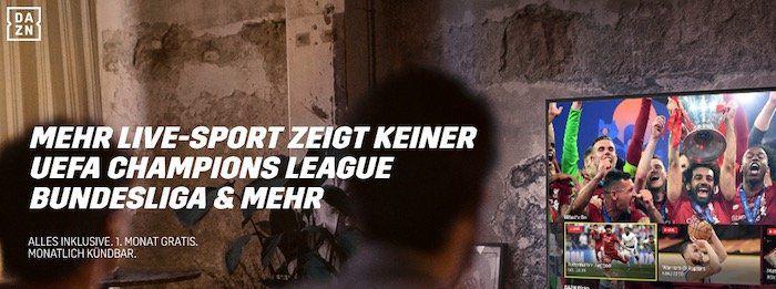 Heute: Frankfurt vs. Arsenal gratis bei DAZN dank Testmonat