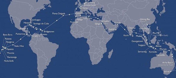 Kreuzfahrt Weltreise 128 Tage auf der MS Astor   Europa, Karibik, Ozeanien, Asien und Afrika