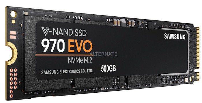 Samsung 970 Evo NVMe SSD mit 500GB für 74,90€ (statt 97€)