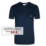 4er Pack Lacoste T-Shirts mit Rundhals oder V-Neck für 90€ (statt 120€)
