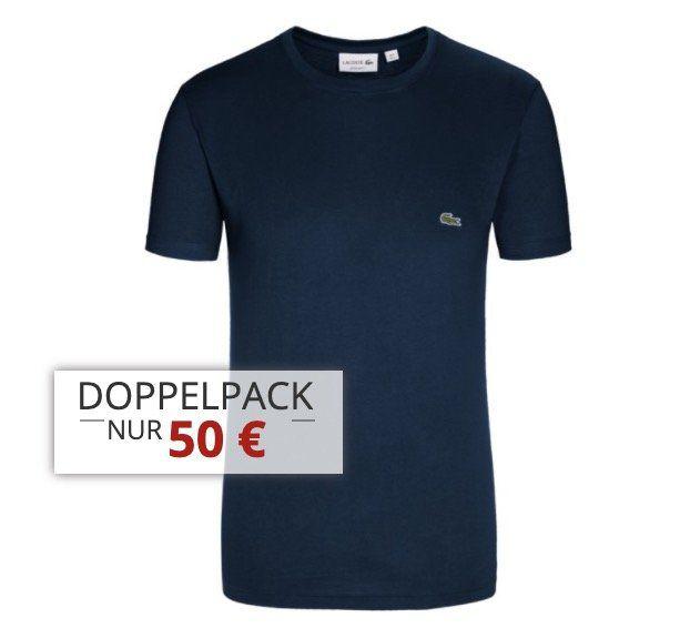 4er Pack Lacoste T Shirts mit Rundhals oder V Neck für 90€ (statt 120€)