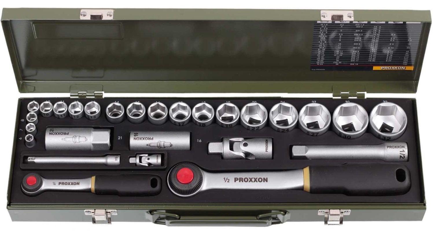 Proxxon PKW Steckschlüsselsatz 6 32 mm 27 tlg. für 44,39€(statt 55€)