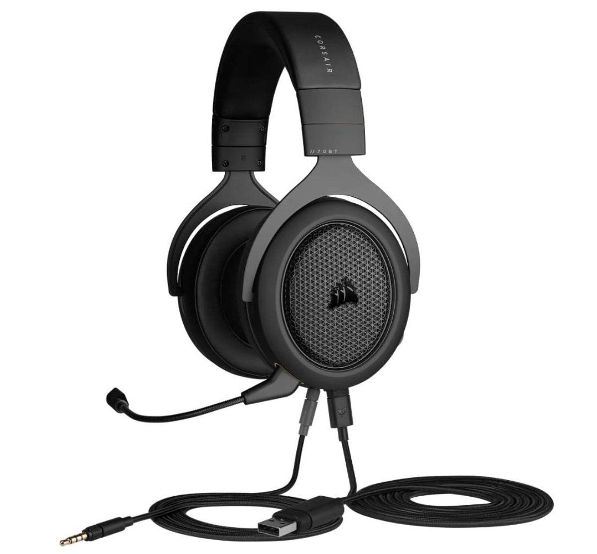 Corsair HS70 Wireless Gaming Headset in Schwarz für 79,99€ (statt 105€)