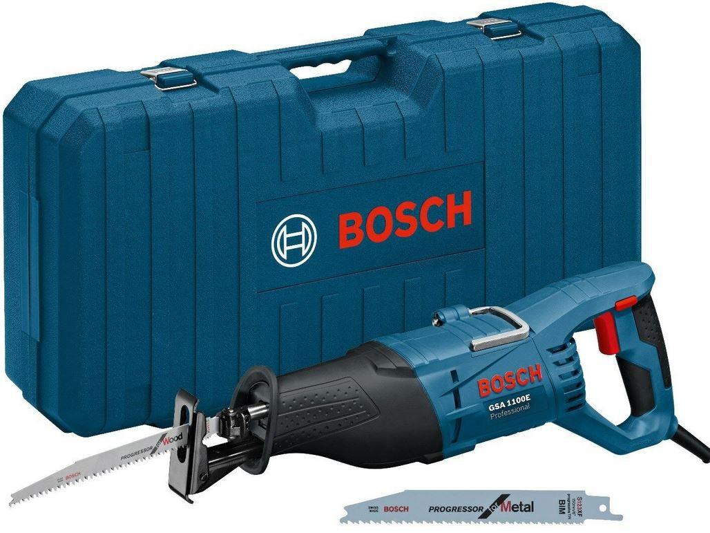 Bosch GSA 1100 E Säbelsäge im Koffer mit 2 Sägeblättern für 84,55€ (statt 92€)