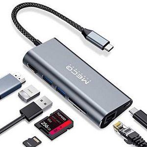 Meco Eleverde USB C Hub mit 7 Multifunktions Ports für 22,79€ (statt 38€)