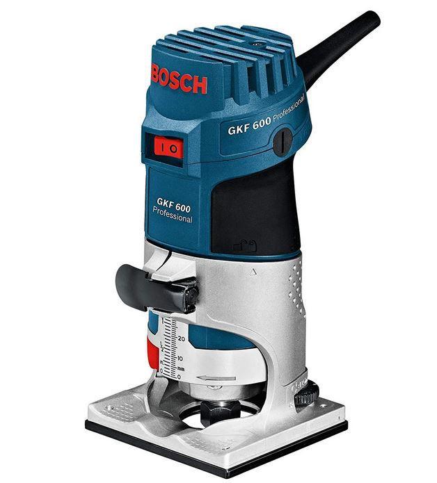 Bosch Professional GKF 600   Kantenfräse mit Zubehör und Koffer für 114,90€ (statt 128€)