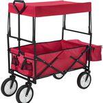 Juskys Bollerwagen Rot mit Dach bis 100kg für 44,95€ (statt 55€)