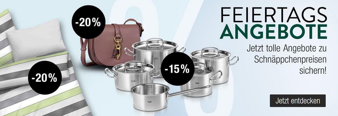 Galeria Kaufhof Feiertagsangebote: z.B. 20% Rabatt auf ausgewählte Haushaltswaren, Barbie & HOT WHEELS uvam.