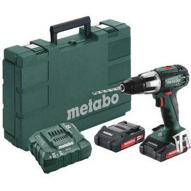 Metabo Akkuschlagbohrer inkl. 2x 2,0Ah Akku, Koffer + Ladegerät für 114€ (statt 180€)
