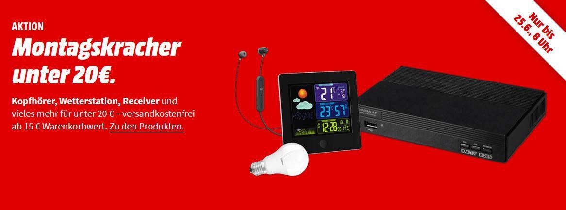 Media Markt Montags Kracher bis 20€   z.B. MAC AUDIO BT Style 1000 Love Bluetooth Lautsprecher für 11€ (statt 20€)