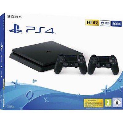 PlayStation 4 Slim 500GB inkl. 2x Controller für 233,91€ (statt 289€)
